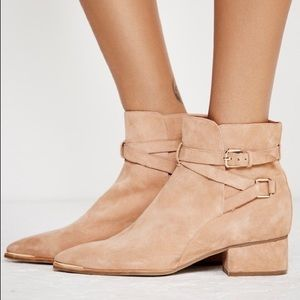 Jeffrey Campbell x Free People Suede Ankle Booties
